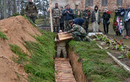 Останки 38 павших солдат, наконец, перезахоронили