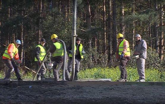 Labiekārtošana-D строит на Коммунальном кладбище площадку для сбора мусора