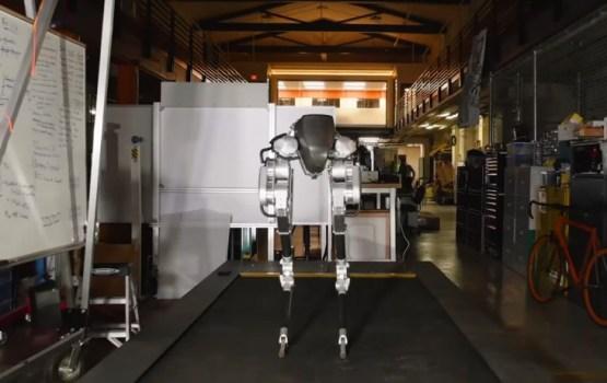Создан умеющий быстро бегать двуногий робот без туловища и головы