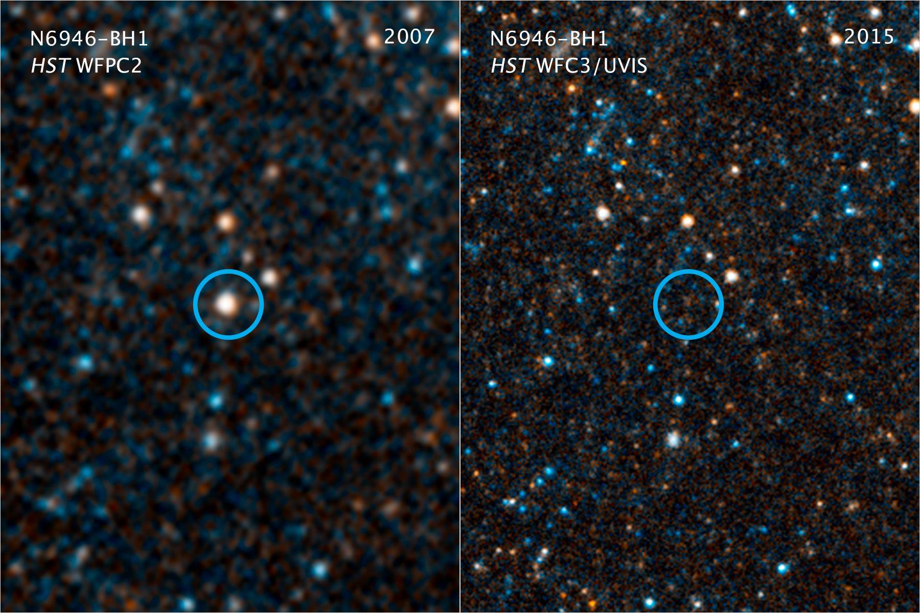 Звезда N6946-BH1 исчезла из Вселенной