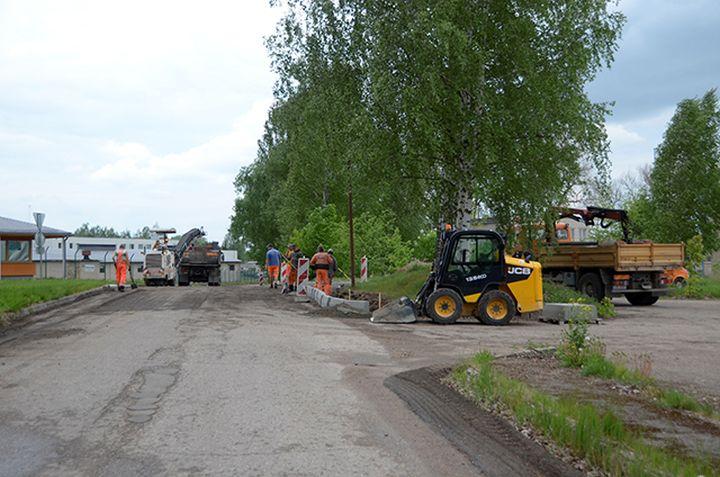 На улице Лидотаю ведутся ремонтные работы