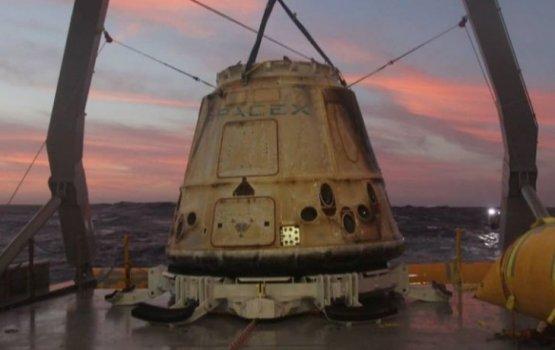 Повторно запущенный космический грузовик Dragon успешно вернулся на Землю