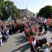 Шествие Гран-при наций и Европейской хоровой олимпиады наблюдали несколько тысяч человек