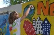 Граффити украсило стены возле Молодежного центра
