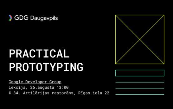 Google Developer Group проводит лекцию о прототипах в дизайне интерфейсов