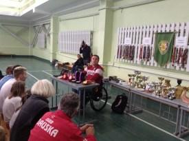 Даугавпилчане встретились с паралимпийцем Айгаром Апинисом