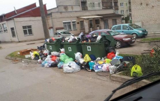 Стихийная свалка на улице Лиела Дарза