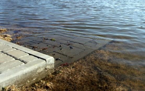 В курземских реках вода поднялась больше чем на метр