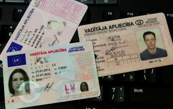 В Латвии запретят езду с испорченным водительским удостоверением