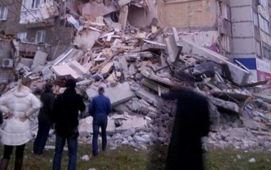 В Ижевске из-за взрыва газа частично обрушился девятиэтажный жилой дом (ВИДЕО)