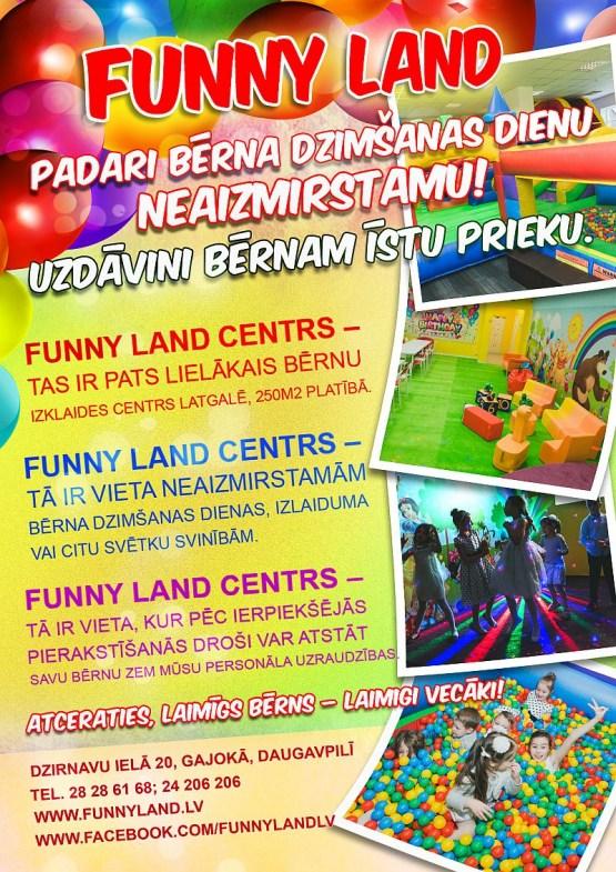 Funny Land Centrs – дети будут в восторге!