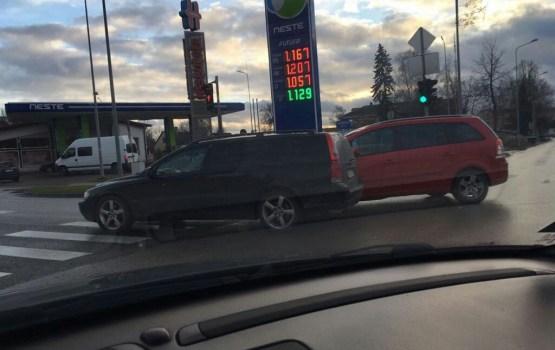 Фотофакт: авария на перекрестке Смилшу и Елгавас