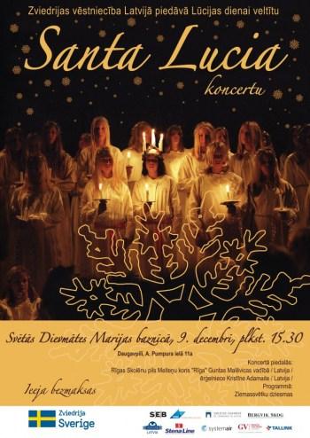 Уже второй год подряд посольство Швеции организует концерт в честь  Дня Святой Люcии в Даугавпилсе