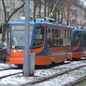 Второе за день столкновение трамвая и автомобиля