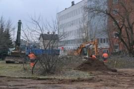 Фотофакт: строители приступили к возведению нового путепровода