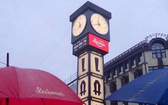 В Риге состоялось открытие знаменитых часов Laima