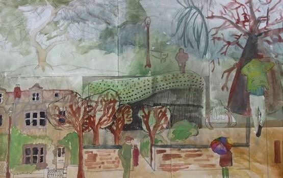 Город и природа глазами детей – выставка пленэрных работ в библиотеке
