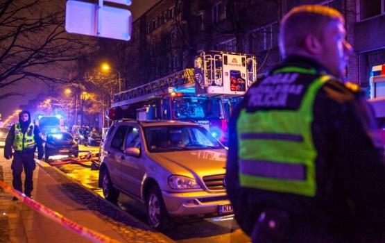 В пожаре сгорел кабинет главы Управления безопасности движения Госполиции