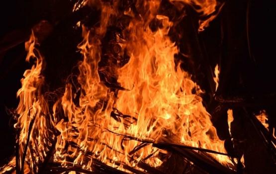 Вчера в пожаре пострадал один человек