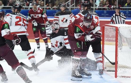 Неувиденные моменты матча Латвия-Канада