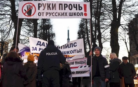 Состоится очередная акция против перевода школ на латышский язык
