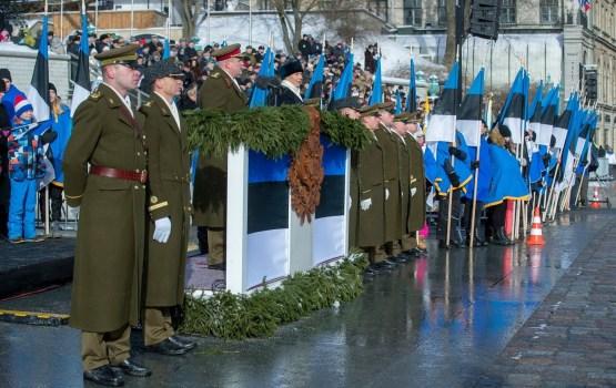 В параде по случаю столетия Эстонской Республики приняли участие 1100 военнослужащих
