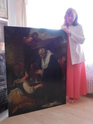 В Даугавпилсе отреставрировали старинную картину