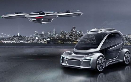 Гибрид робомобиля и дрона в представлении Audi, Italdesign и Airbus