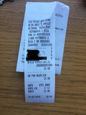 Стоимость больничного листа в Риге – 25 евро. А у нас?