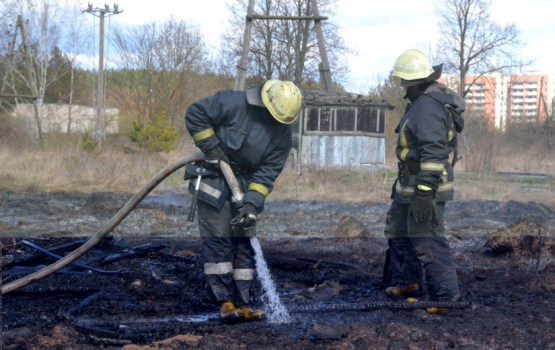 Из-за поджогов сухой травы сгорело несколько зданий