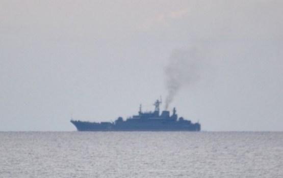 У границы Латвии замечен российский военный корабль