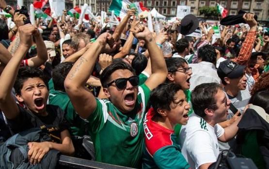 В Мексике болельщики так сильно прыгали, что в столице зарегистрировали землетрясение