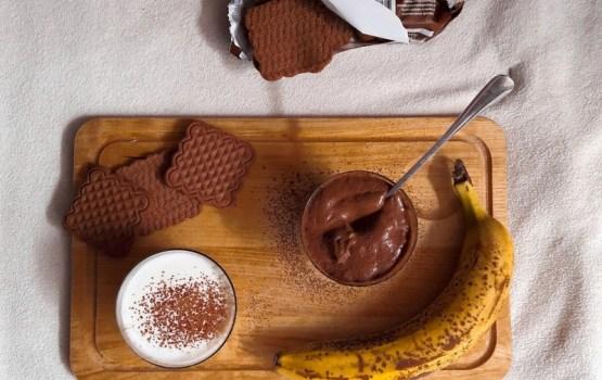 Рецепт: банановое мороженое с какао