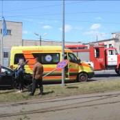 На перекрестке ул. Лиепаяс и 18Новембра столкнулись три автомобиля