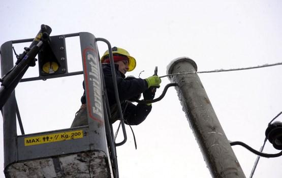 Из-за сильного ветра нарушено электроэнергоснабжение