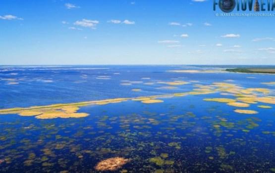 Озеро Лубанас с высоты птичьего полета