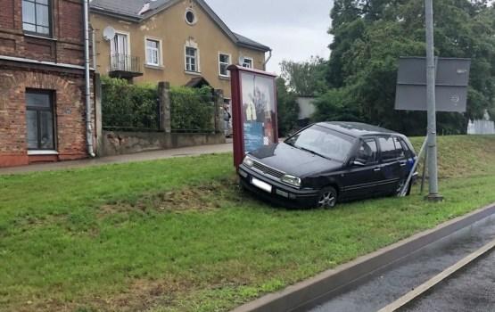 Фотофакт: авария возле польской гимназии
