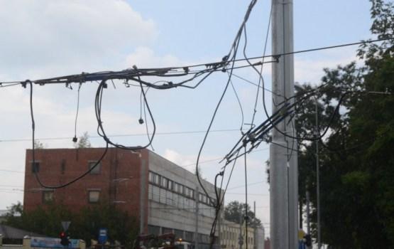 В городе парализовано трамвайное сообщение (дополнено)