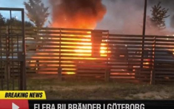 ВИДЕО: В городах Швеции люди в масках подожгли десятки автомобилей