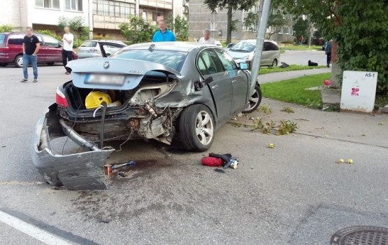 Фотофакт: авария на перекрестке улиц Tukuma и Tautas