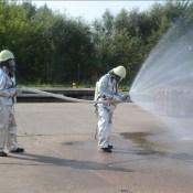 На территории газохранилища прошли учения ГПСС
