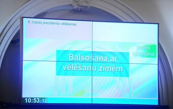 Сейм поддержал избрание президента Латвии открытым голосованием