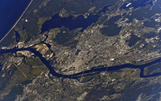 Столицу Латвии сфотографировали из космоса
