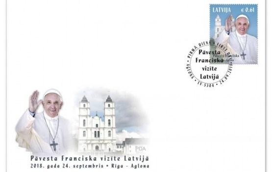 Встречаем папу: в Латвии выпустили марку в честь Франциска