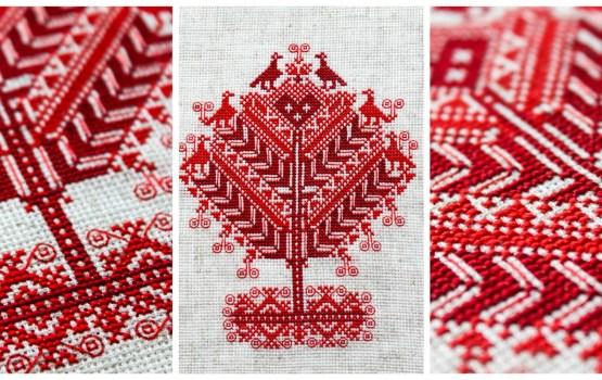 Платки и пояс в подарок даугавпилсским белорусам