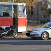Мотоциклист врезался в задний бампер легковушки (подробностиаварии)