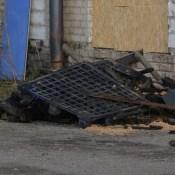 В Даугавпилсе опять горел бывший мебельный комбинат