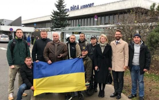 Украинских военных привезли на реабилитацию в Юрмалу
