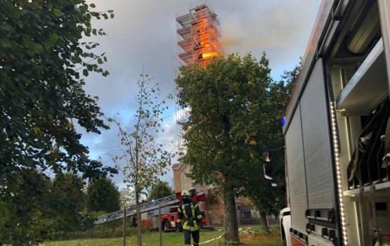 Пожарных наградят за тушение церкви