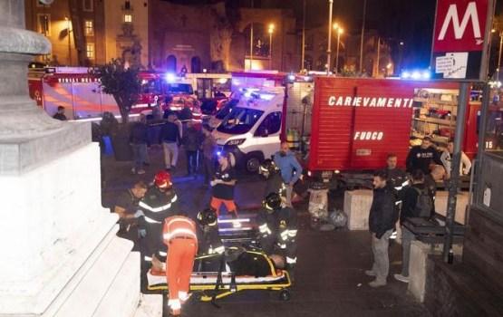 При обрушении эскалатора в римском метро пострадали 30 фанатов ЦСКА